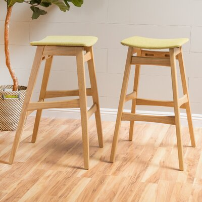 Burroughs 30 inch Bar Stool Upholstery: Green Tea