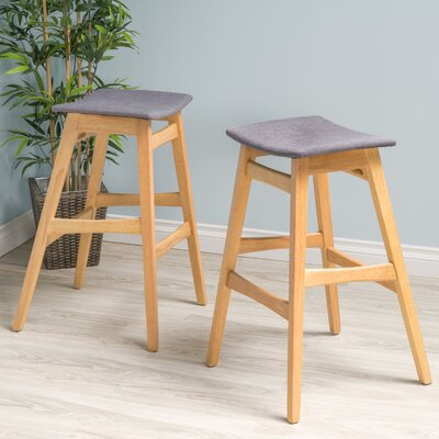 Burroughs 30 Bar Stool Upholstery: Dark Gray