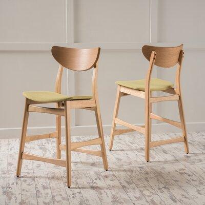 Laceyville 24 Bar Stool Upholstery: Green Tea