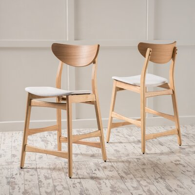 Laceyville 24 Bar Stool Upholstery: Light Beige