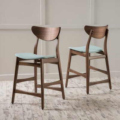 Laceyville 24 Bar Stool Upholstery: Mint