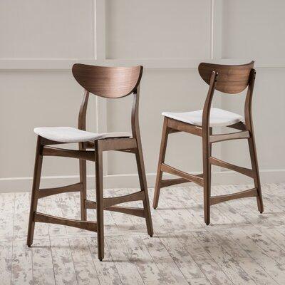 Vera 24 inch Bar Stool Upholstery: Light Beige