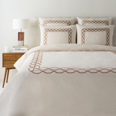 Rigby Duvet Cover Size: Full / Queen, Color: Cream/Tan