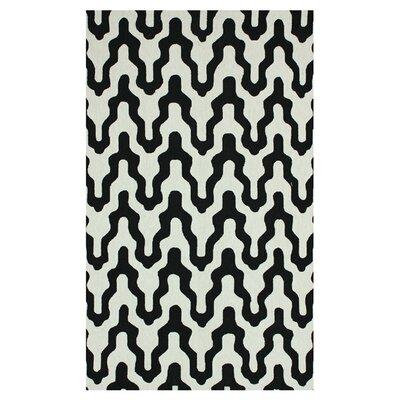 Dempsey Black Rhonda Area Rug Rug Size: 86 x 116
