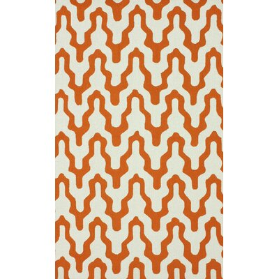 Dempsey Orange Rhonda Area Rug Rug Size: 76 x 96