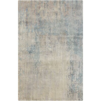 Hagar Hand-Knotted Ivory Area Rug Rug size: Rectangle 5 x 8