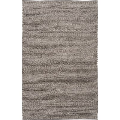 Quintus Hand-Woven Dark Brown Area Rug Rug size: 9 x 13
