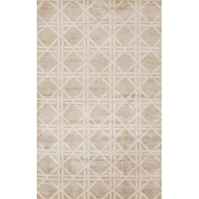 Creagh Hand-Knotted Beige Area Rug Rug Size: Rectangle 8 x 11