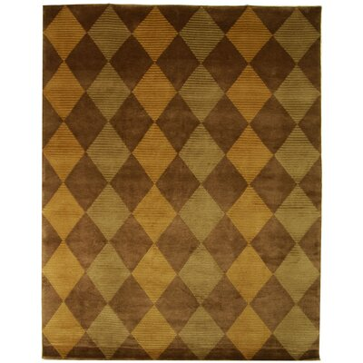 Ponderosa Hand-Knotted Brown/Green Area Rug
