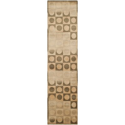 Marguerite Hand-Knotted Beige/Brown Area Rug