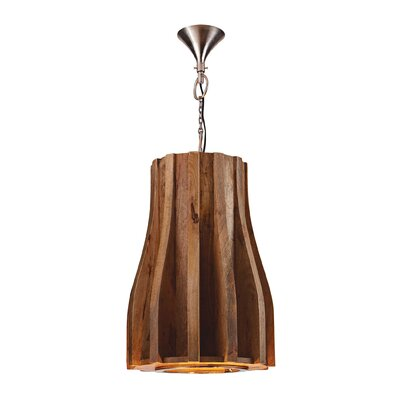 Franklin Wooden Retro 6-Light Pendant