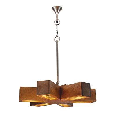Lewis Retro 6-Light Spoke Pendant