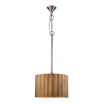 Dido 1-Light Drum Pendant Size: 12.2 H x 12.2 W x 12.2 D