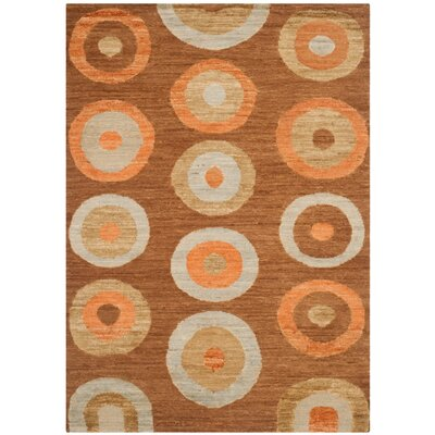 San Buenaventura Hand-Knotted Chocolate Area Rug Rug Size: Rectangle 8 x 10