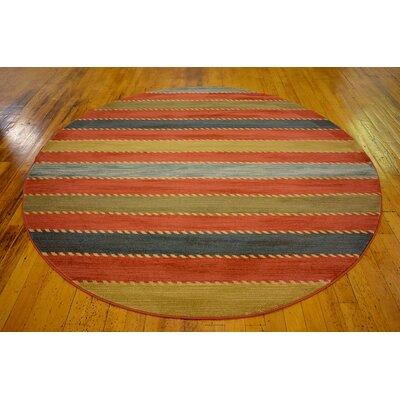 Almena Multi Area Rug Rug Size: Round 8