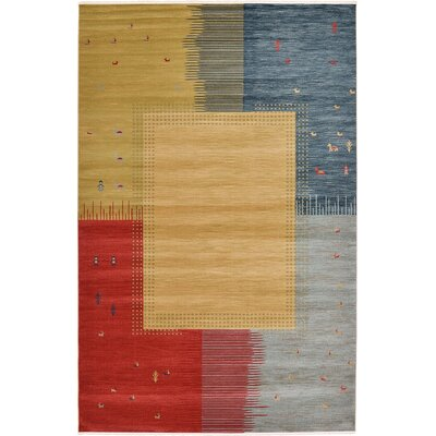Almena Tan Area Rug Rug Size: 106 x 165