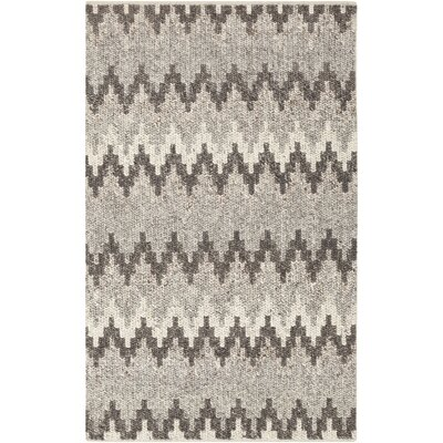 Rekker Hand-Woven Medium Gray Area Rug Rug size: Rectangle 5 x 76