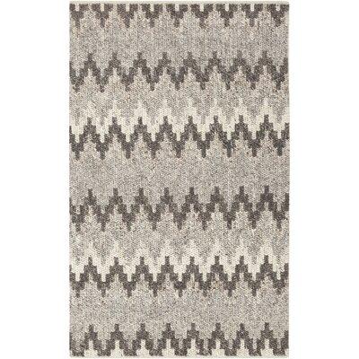 Rekker Hand-Woven Medium Gray Area Rug Rug size: 8 x 10