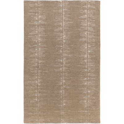 Zafiro Hand-Tufted Camel/Khaki Area Rug Rug size: Rectangle 2 x 3