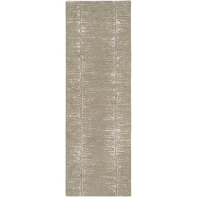 Zafiro Hand-Tufted Taupe Area Rug Rug size: Runner 26 x 8