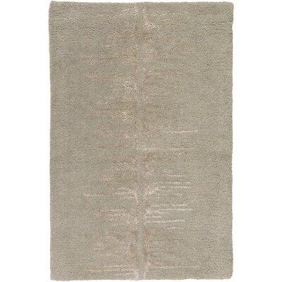 Zafiro Hand-Tufted Taupe Area Rug Rug size: 33 x 53