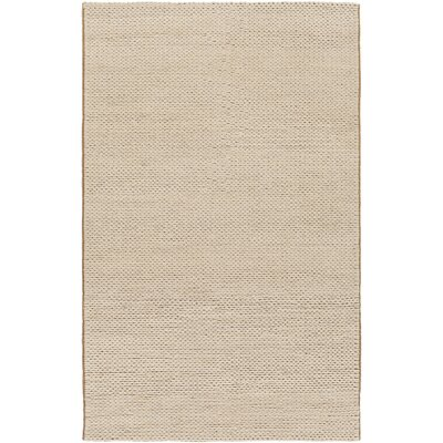 Alvin Hand-Woven Ivory Area Rug Rug size: 8 x 10