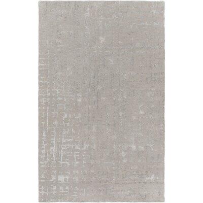 Timberlane Hand-Tufted Light Gray/Medium Gray Area Rug Rug size: 33 x 53