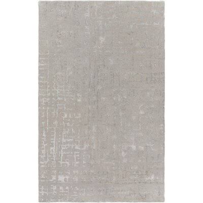 Timberlane Hand-Tufted Light Gray/Medium Gray Area Rug Rug size: 5 x 8