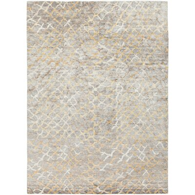 Platinum Hand-Knotted Medium Gray Area Rug Rug Size: Rectangle 8 x 11