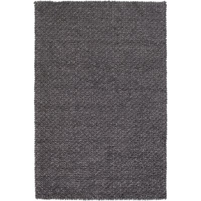 Arthur Hand-Crafted Charcoal Gray Area Rug Rug size: Rectangle 4 x 6
