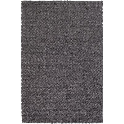 Arthur Hand-Crafted Charcoal Gray Area Rug Rug size: 5 x 8