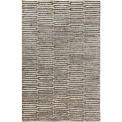Olinda Hand-Knotted Khaki Area Rug Rug size: Rectangle 8 x 11
