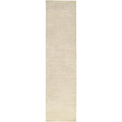 Jade Hand-Woven Natural Area Rug Rug Size: Runner 26 x 10