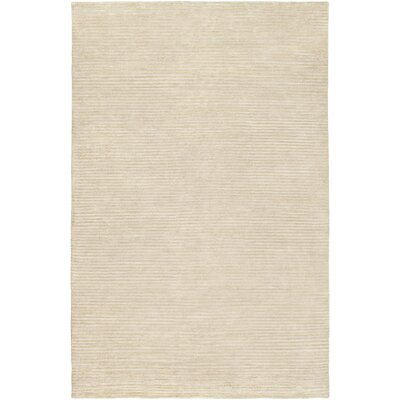 Esmond Hand-Knotted Beige/Khaki Area Rug Rug size: 5 x 8
