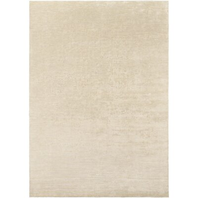 Esmond Hand-Knotted Beige/Khaki Area Rug Rug size: 8 x 11