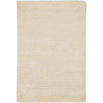 Esmond Hand-Knotted Beige/Khaki Area Rug Rug size: 9 x 13