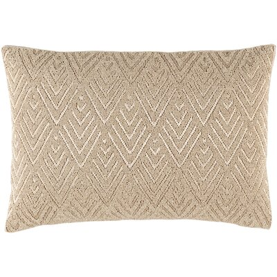 Monroe 100% Cotton Lumbar Pillow Color: Neutral