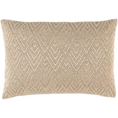 Monroe 100% Cotton Lumbar Pillow Color: Neutral