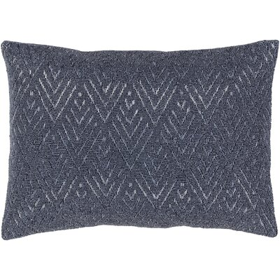 Monroe 100% Cotton Lumbar Pillow Color: Gray