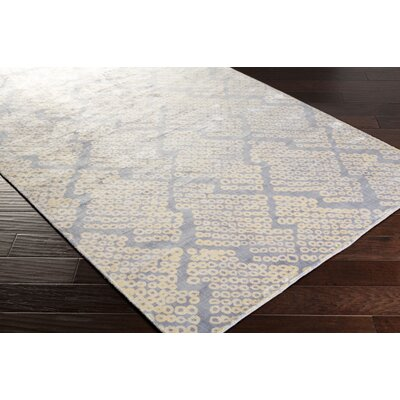 Villa Court Hand-Loomed Blue Area Rug Rug Size: Rectangle 33 x 53