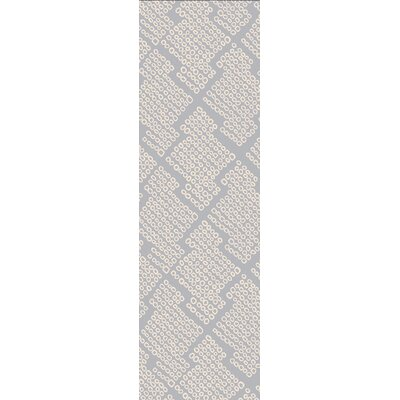 Villa Court Hand-Loomed Blue Area Rug Rug Size: Runner 26 x 8