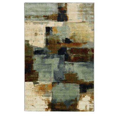 Harlingen Blue/Tan Area Rug Rug Size: 5 x 8