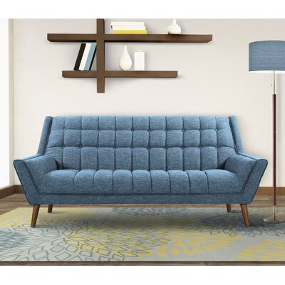Demesne Mid-Century Modern Sofa Upholstery: Blue