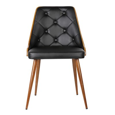 Almond Parsons Chair Upholstery: Black
