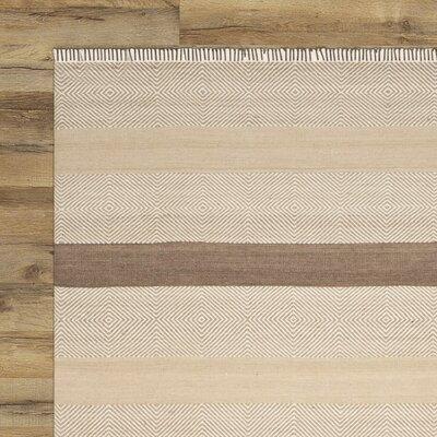 Renfrew Hand-Woven Beige Area Rug Rug Size: 8' x 10'
