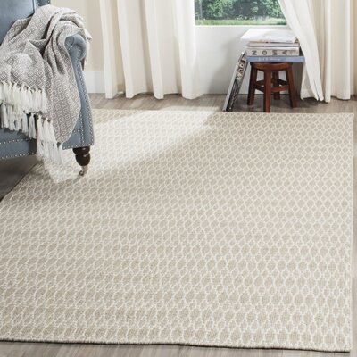 Aniwa Gray/Ivory Area Rug Rug Size: Rectangle 8 x 10