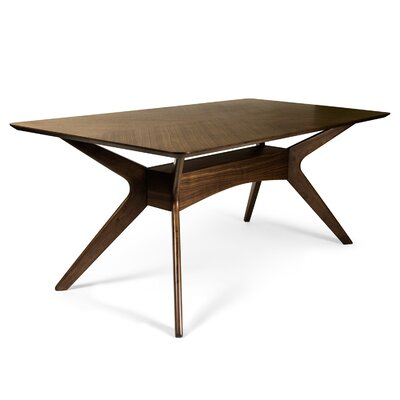 Selena Dining Table Finish: Walnut
