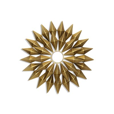 Gold Starburst Wall Décor with Mirror