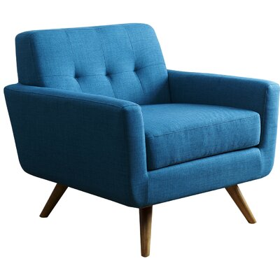 Drumagrove Leyla Arm Chair Upholstery: Blue