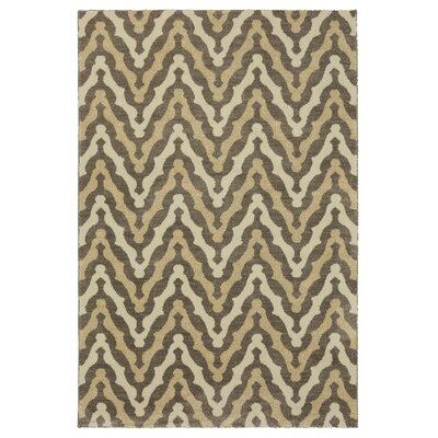 Bonino Gray/Beige Area Rug Rug Size: Rectangle 5 x 8